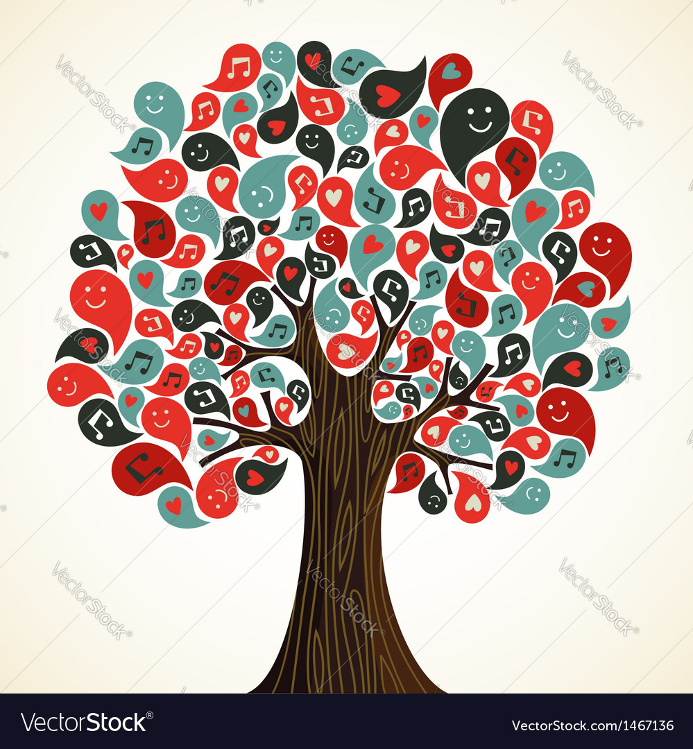 Abstract music tree vector | Price: 1 Credit (USD $1)