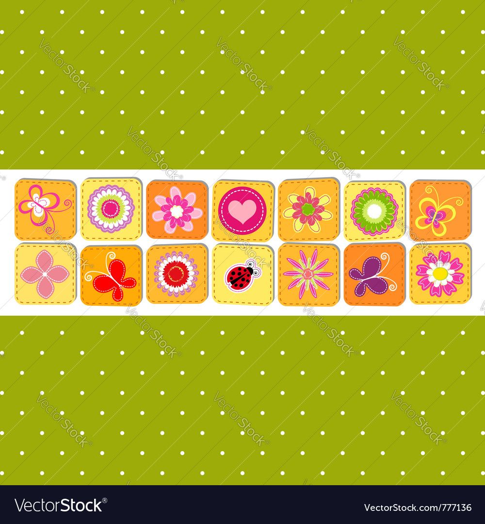 Abstract spring time flower vector | Price: 1 Credit (USD $1)