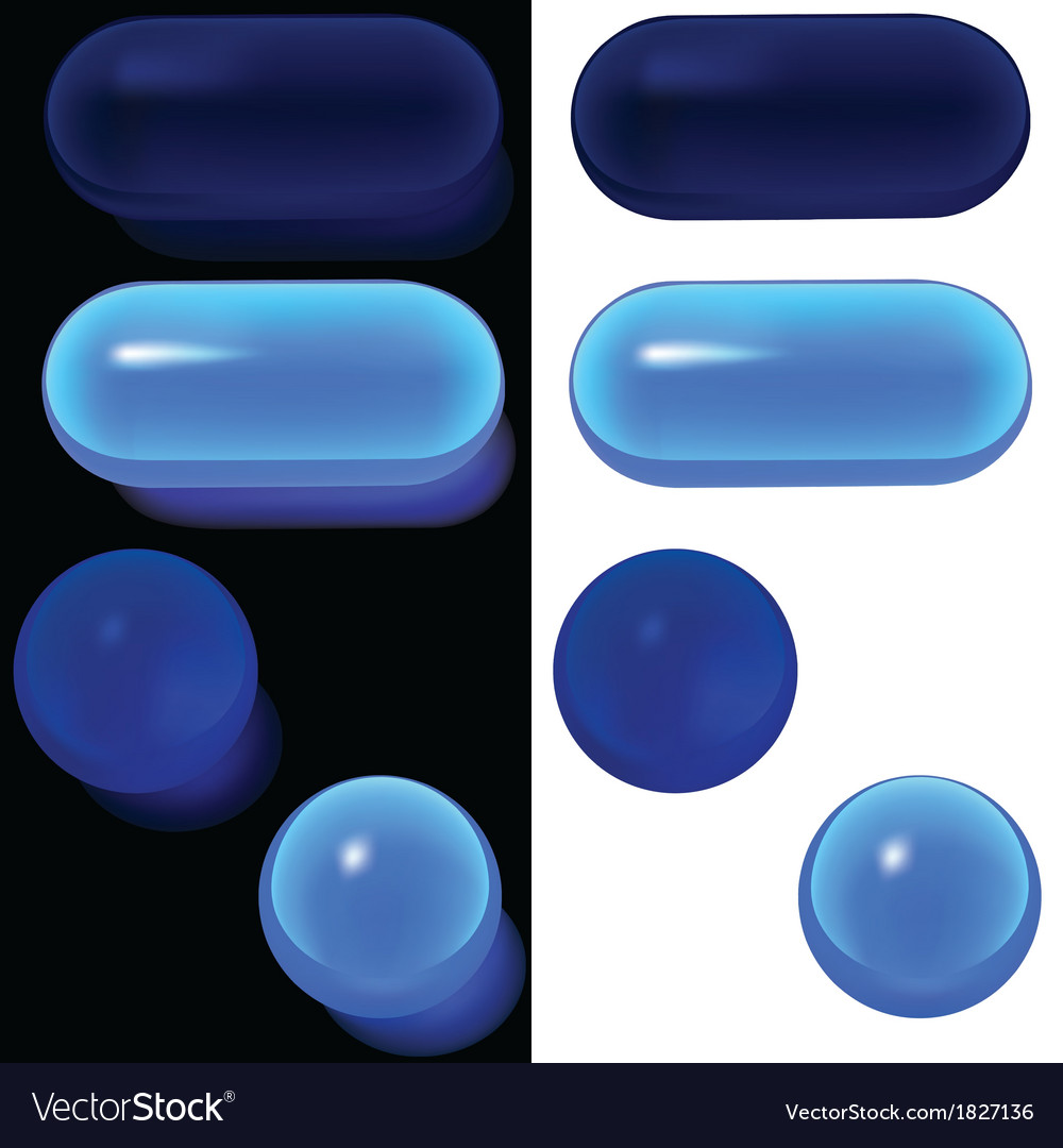 Blue glass buttons vector | Price: 1 Credit (USD $1)