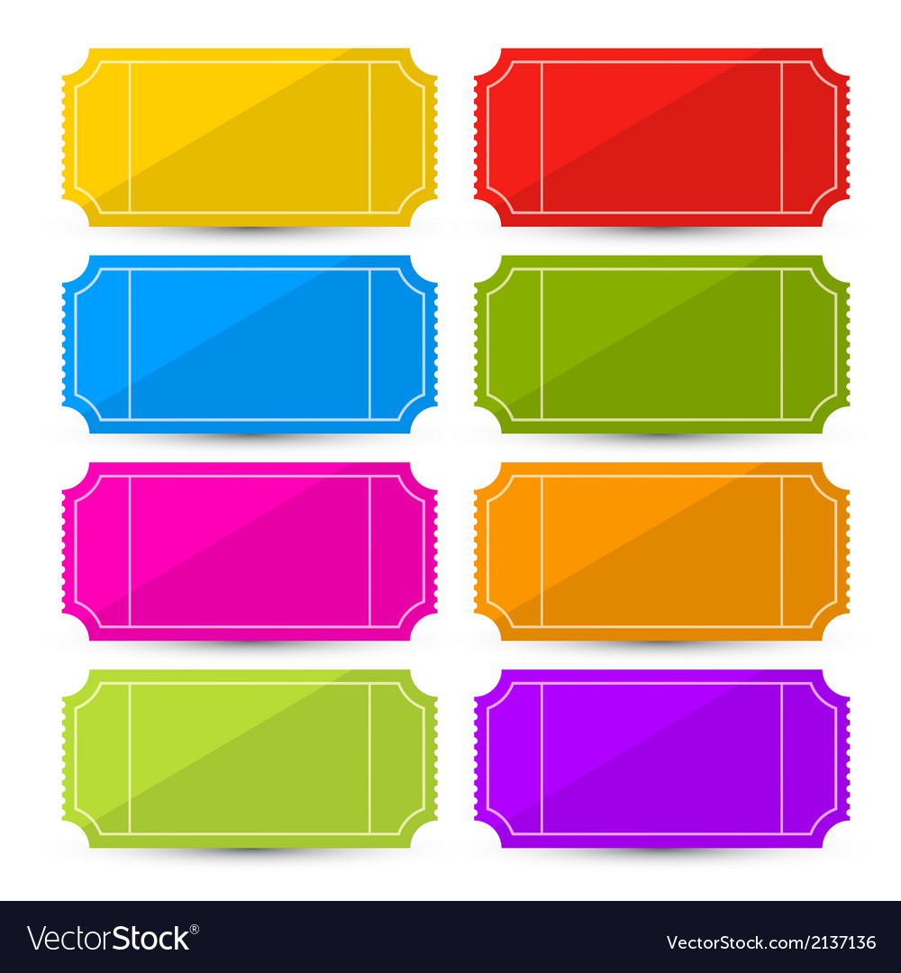 Colorful ticket set vector | Price: 1 Credit (USD $1)