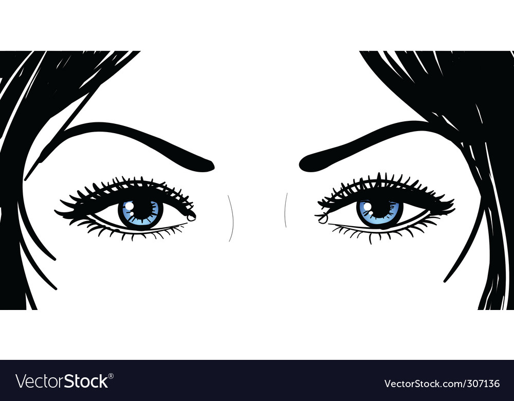 Girl eyes vector | Price: 1 Credit (USD $1)