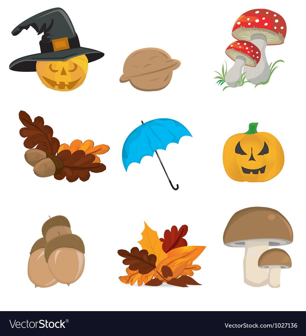 Halloween seasonal elements vector | Price: 1 Credit (USD $1)