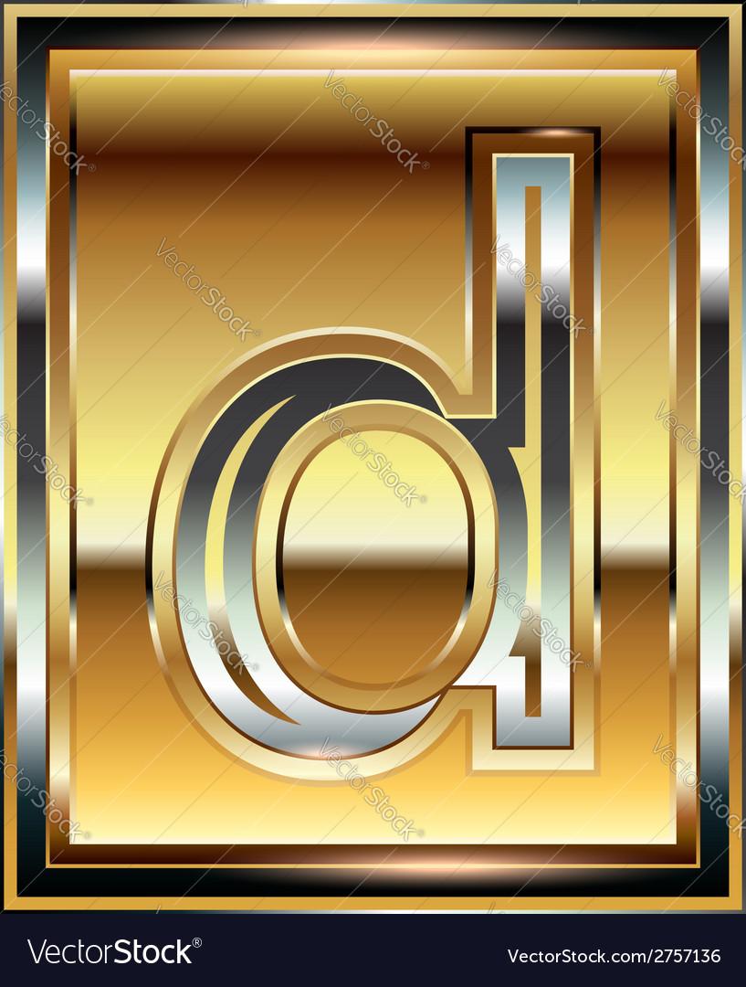 Ingot font letter d vector | Price: 1 Credit (USD $1)