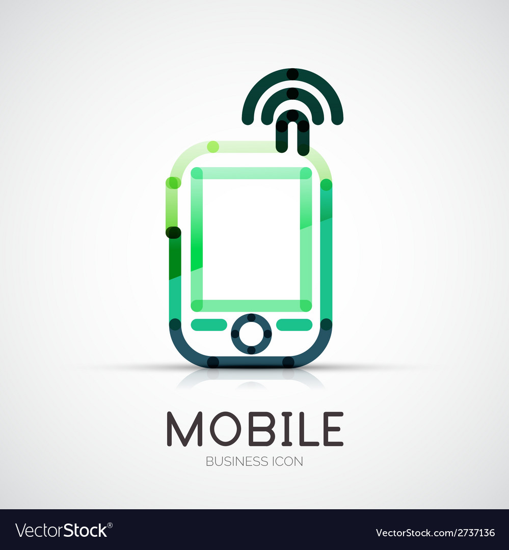 Mobile phone icon company logo business concept vector | Price: 1 Credit (USD $1)