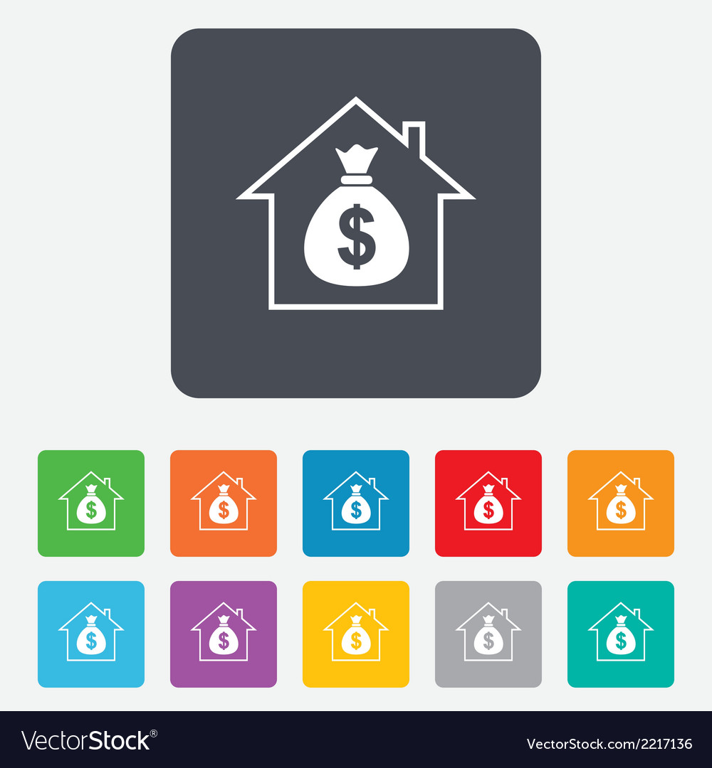 Mortgage sign icon real estate symbol vector | Price: 1 Credit (USD $1)