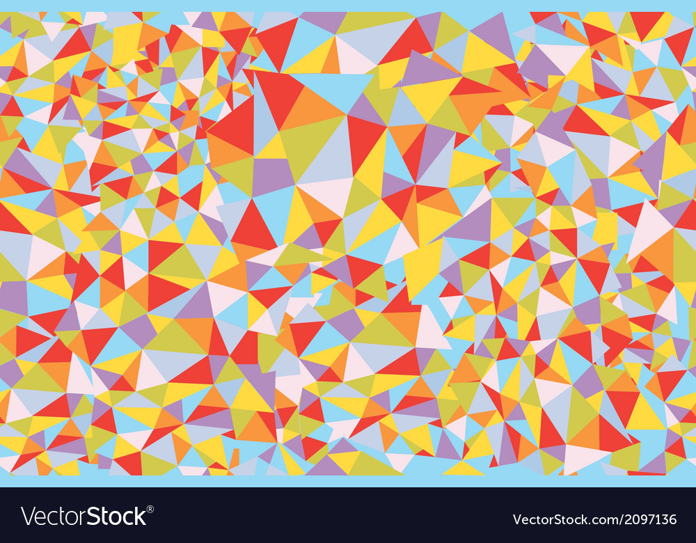 Mosaic triangle seamless pattern vector | Price: 1 Credit (USD $1)