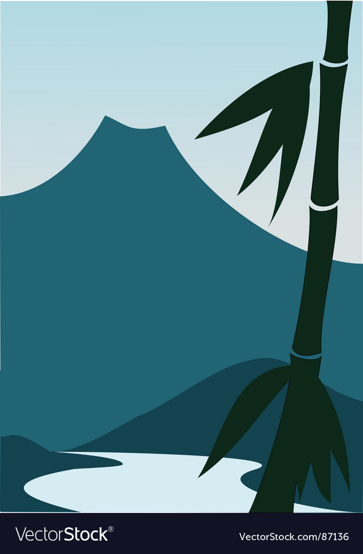 Mountain river vector | Price: 1 Credit (USD $1)
