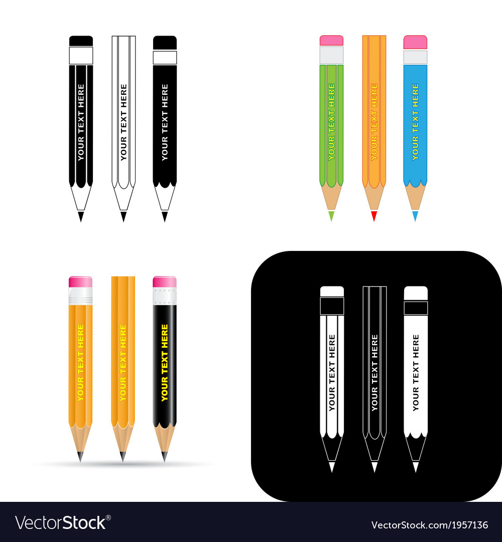 Pencils icons vector | Price: 1 Credit (USD $1)