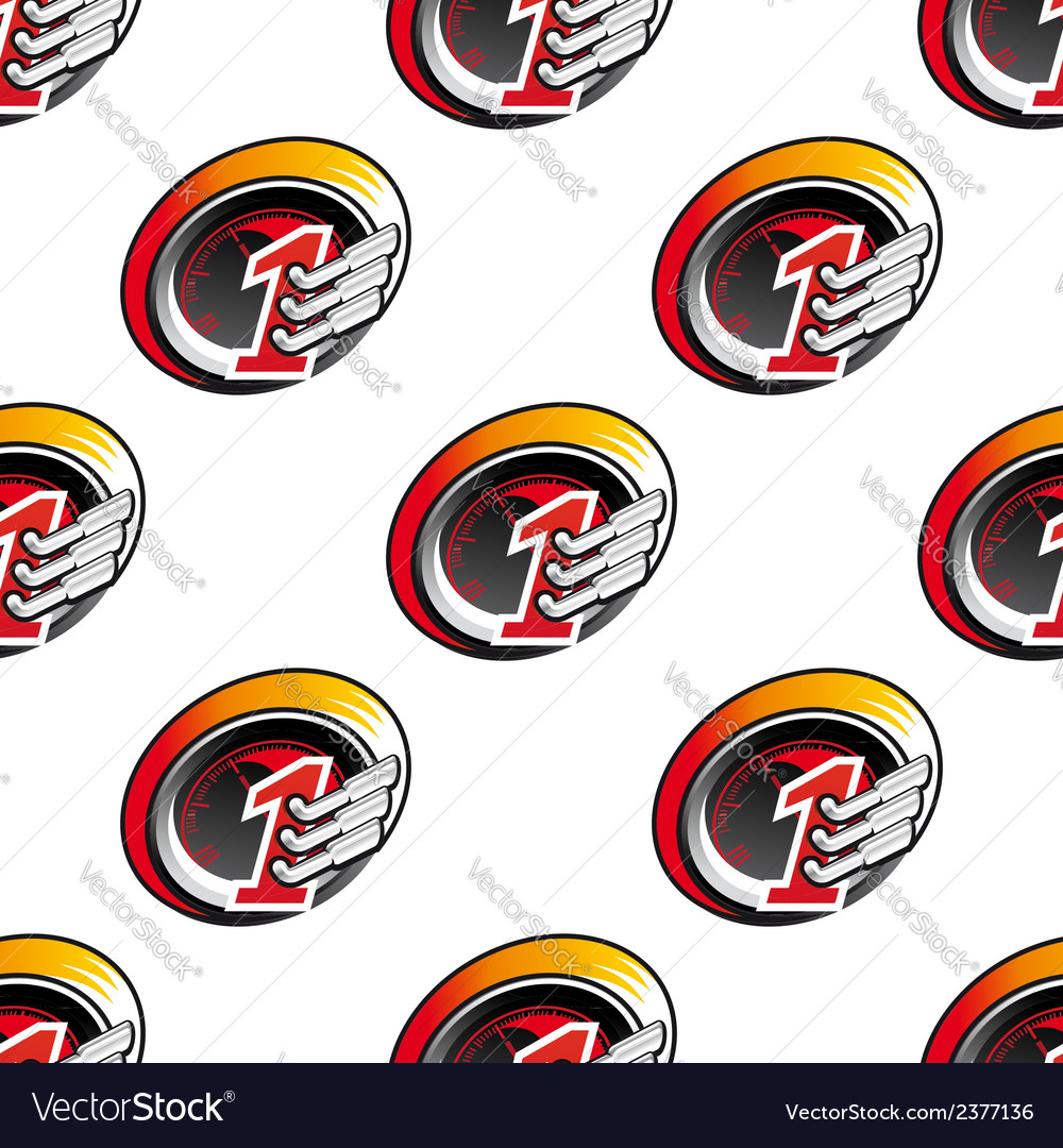 Racing sports seamless pattern vector | Price: 1 Credit (USD $1)