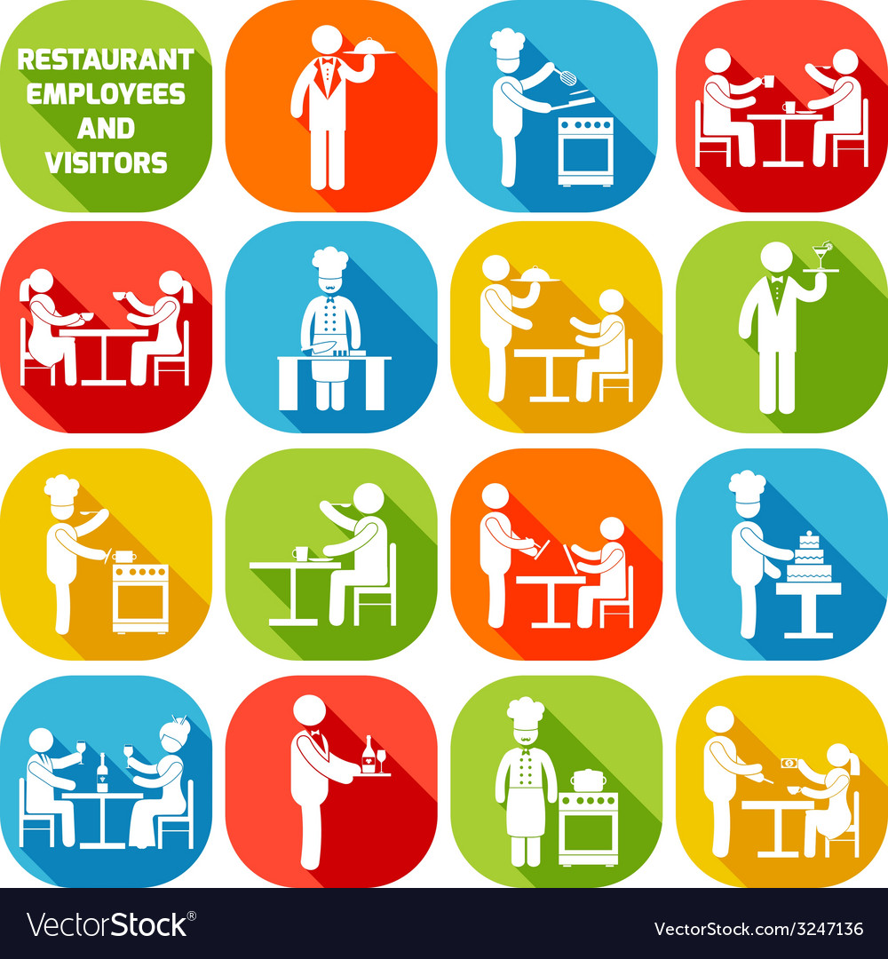 Restaurant employees white vector | Price: 1 Credit (USD $1)