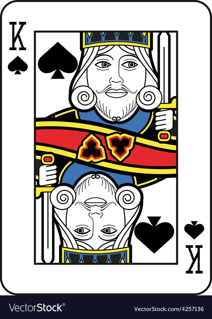 Stylized king of spades no card vector | Price: 1 Credit (USD $1)