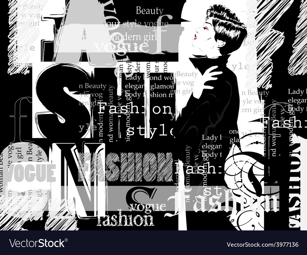 Vintage fashion background vector | Price: 1 Credit (USD $1)