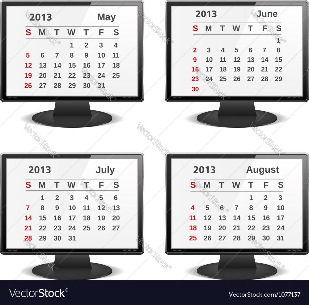 2013 calendar vector | Price: 1 Credit (USD $1)