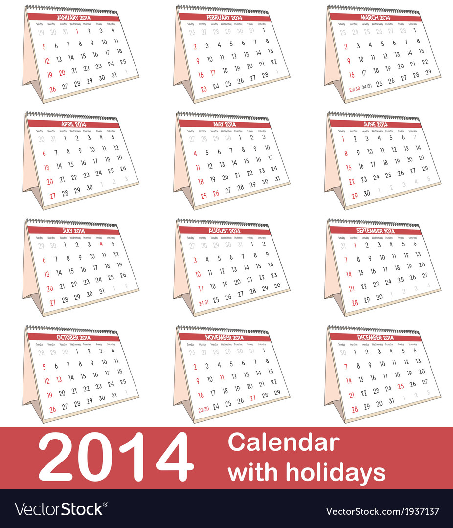 2014 calendar vector   Price: 1 Credit (USD $1)
