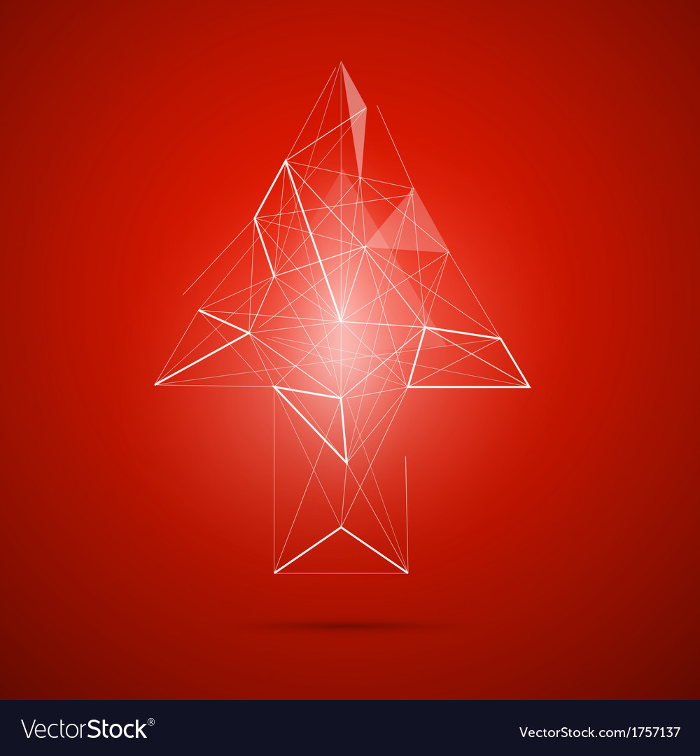 Abstract transparent arrow on red background vector | Price: 1 Credit (USD $1)