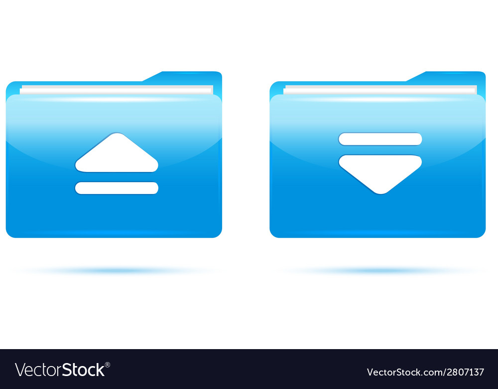 Blue folder download vector | Price: 1 Credit (USD $1)