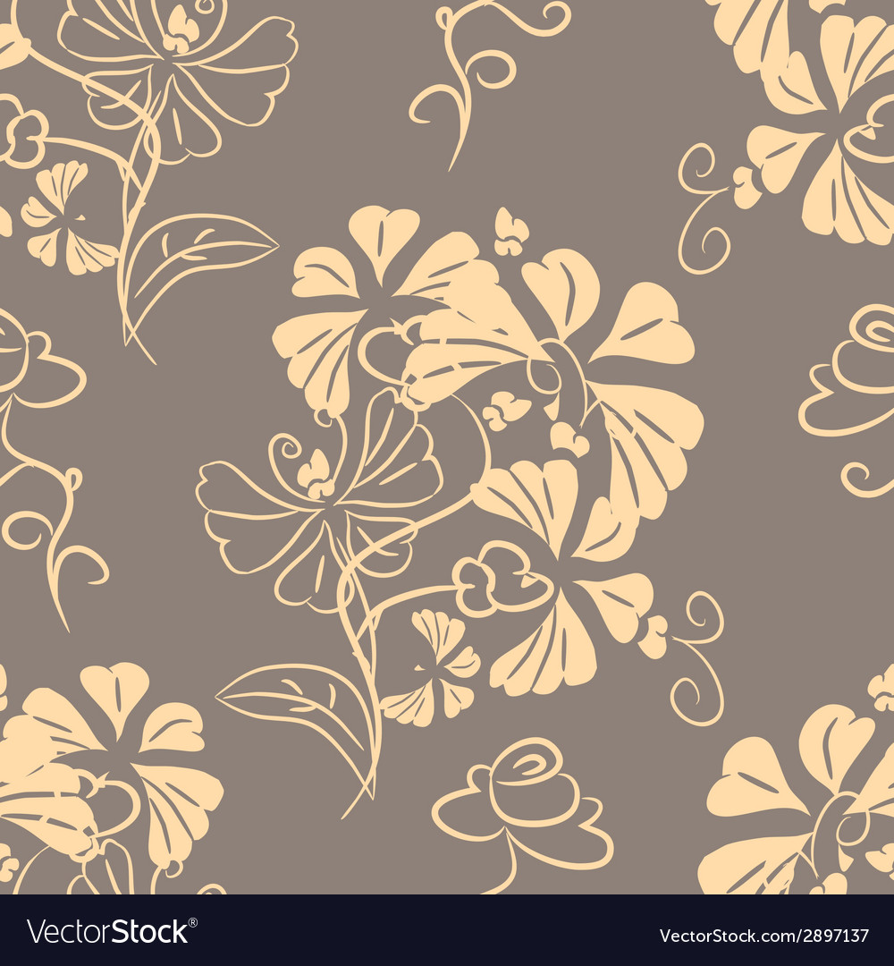 Decorative floral background seamless vector | Price: 1 Credit (USD $1)