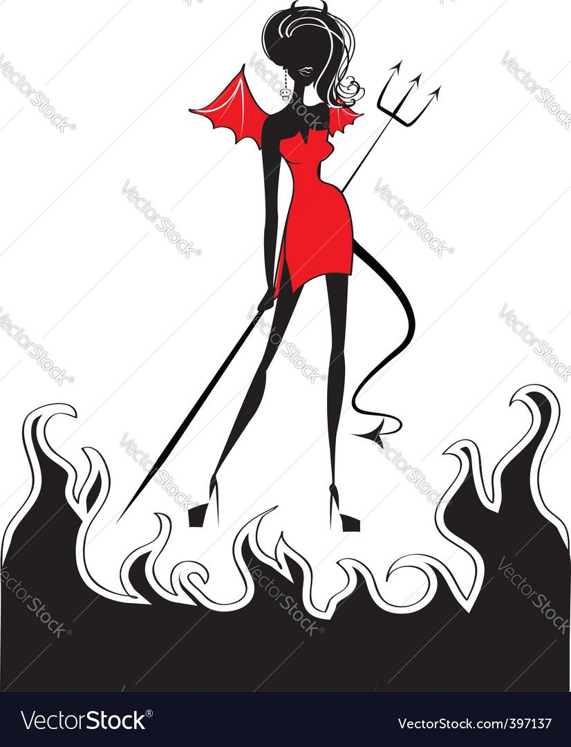 Devil fire vector | Price: 1 Credit (USD $1)
