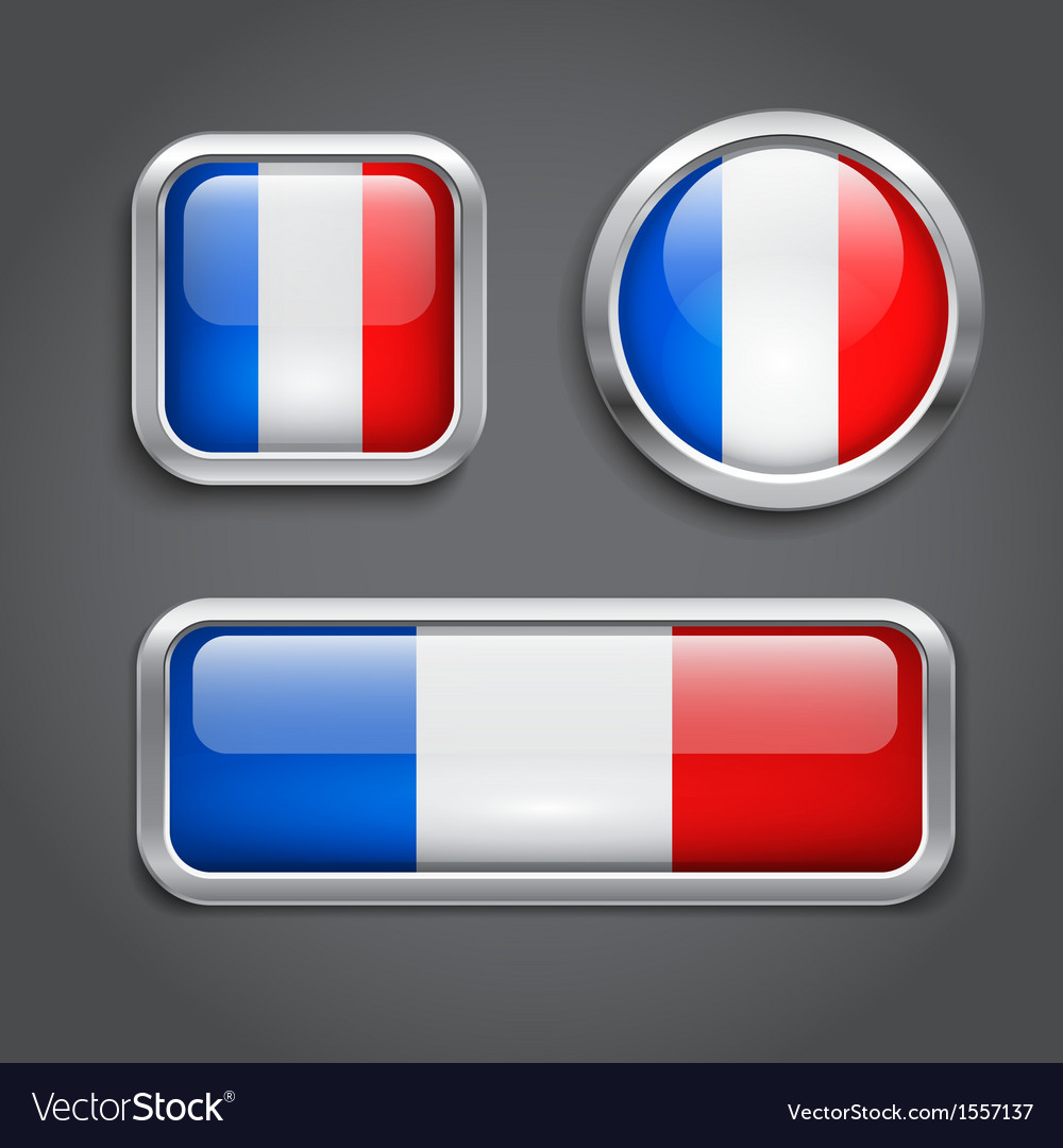 France flag buttons vector | Price: 1 Credit (USD $1)