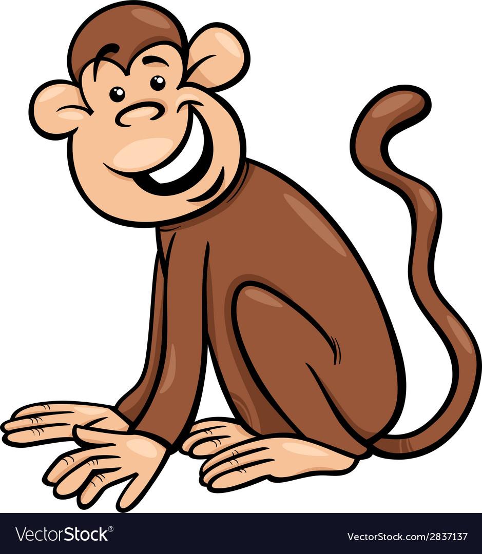 Funny monkey cartoon vector | Price: 1 Credit (USD $1)