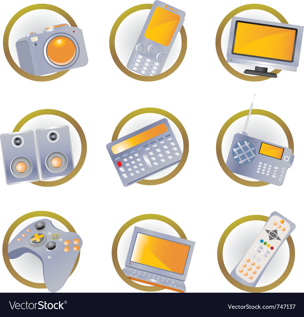 Hi-tech equipment vector | Price: 1 Credit (USD $1)