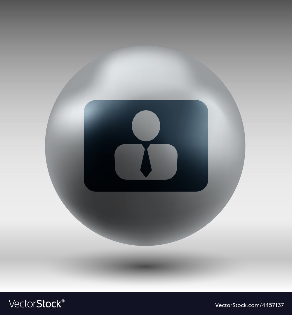 Icon man inside social people technology vector | Price: 1 Credit (USD $1)