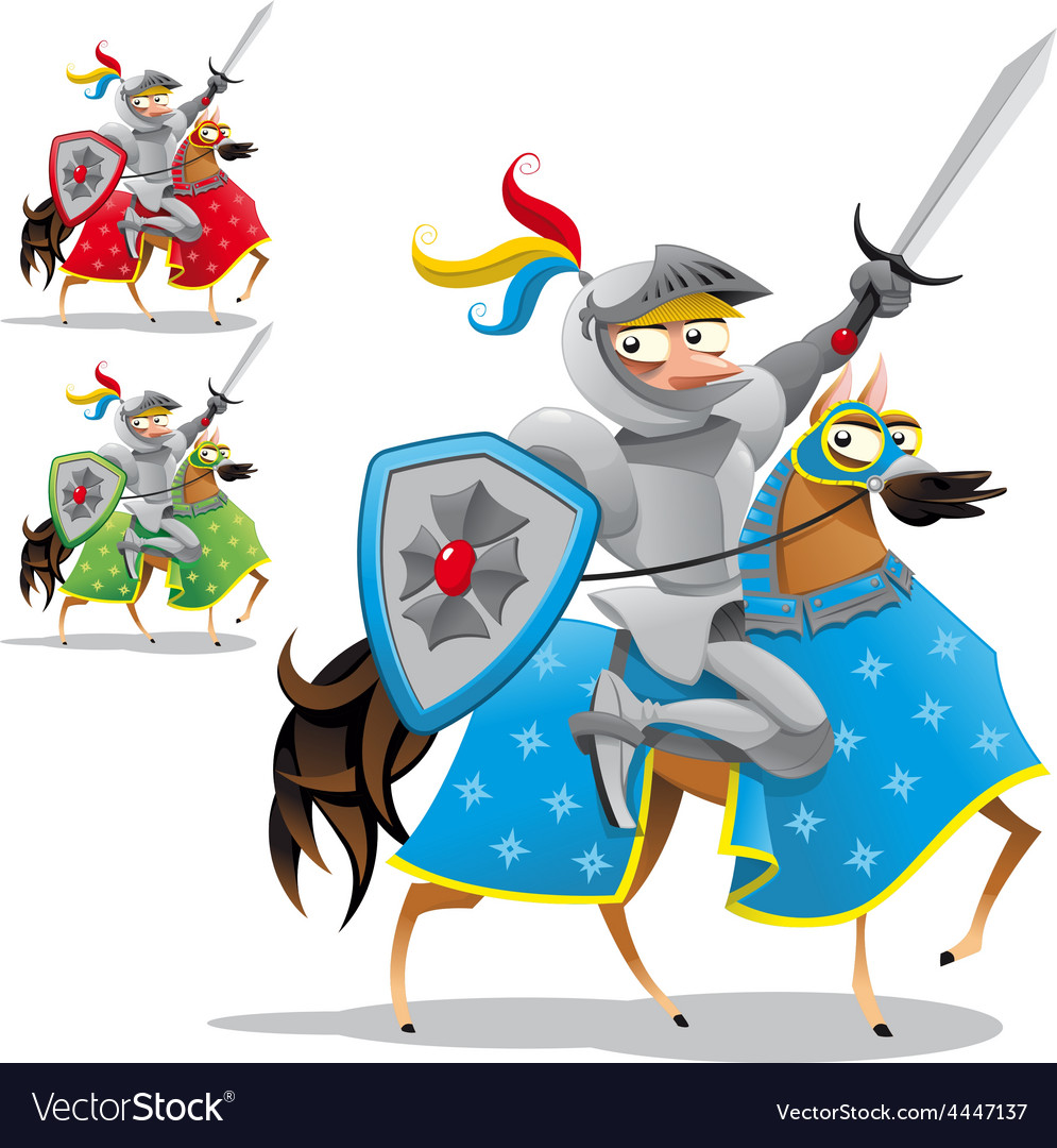 Knight and horse vector | Price: 1 Credit (USD $1)