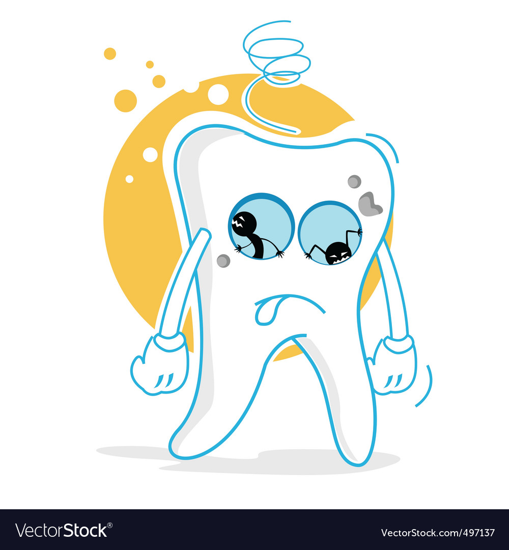 Sad teeth vector | Price: 1 Credit (USD $1)