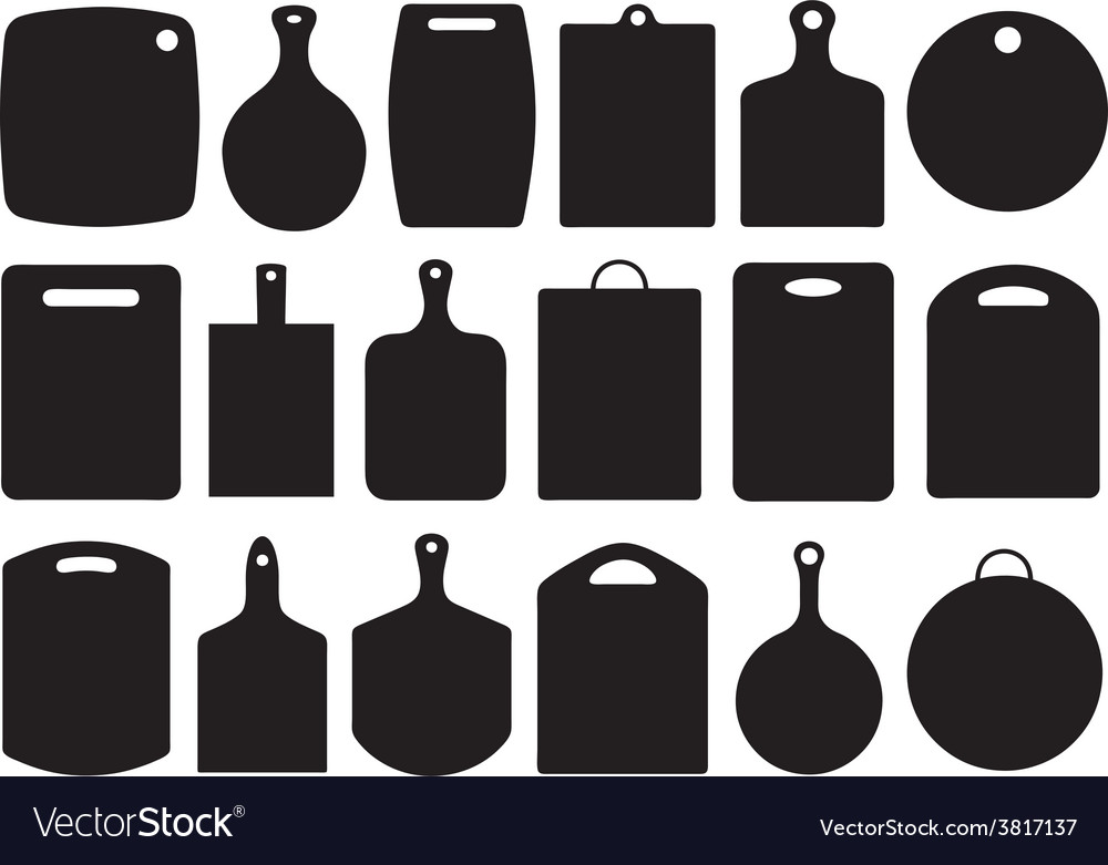 Set of kitchen cutting boards vector
