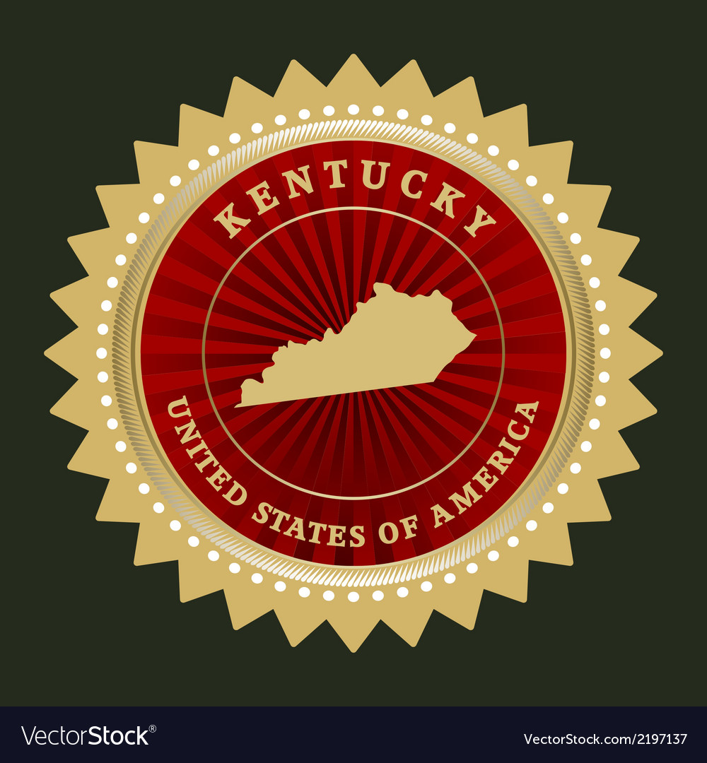 Star label kentucky vector | Price: 1 Credit (USD $1)