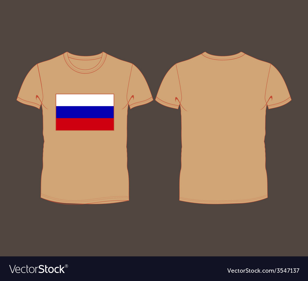 T-shirt with the flag of russia vector | Price: 1 Credit (USD $1)