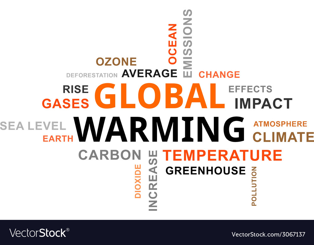 Word cloud global warming vector | Price: 1 Credit (USD $1)
