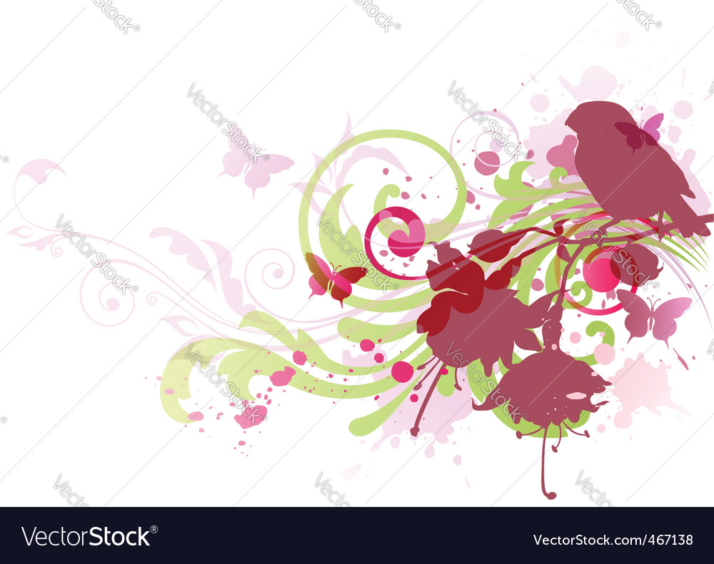 Abstract background with bird vector | Price: 1 Credit (USD $1)