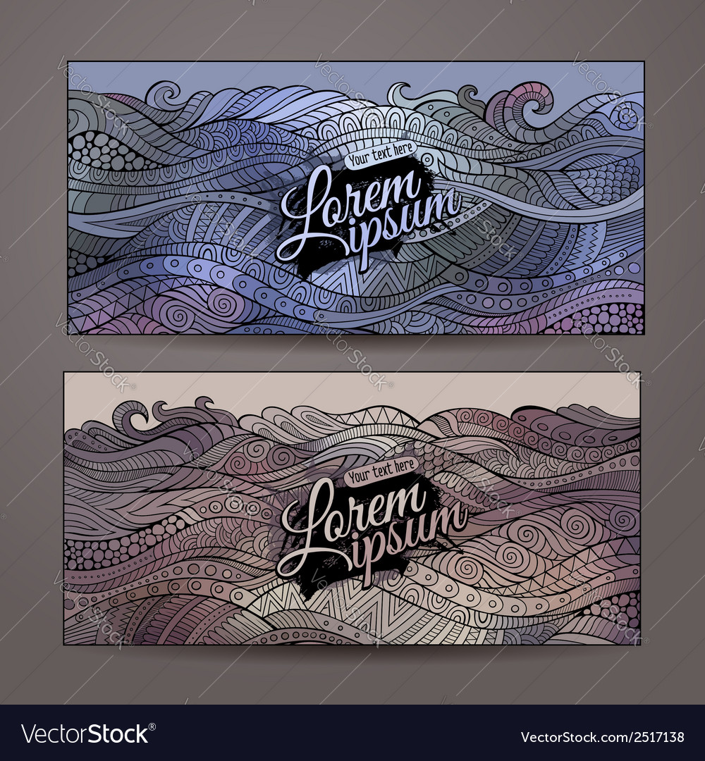 Abstract decorative waves ornamental backgrounds vector | Price: 1 Credit (USD $1)