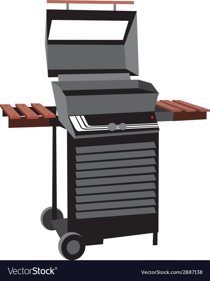 Bbq grill isolated vector | Price: 1 Credit (USD $1)