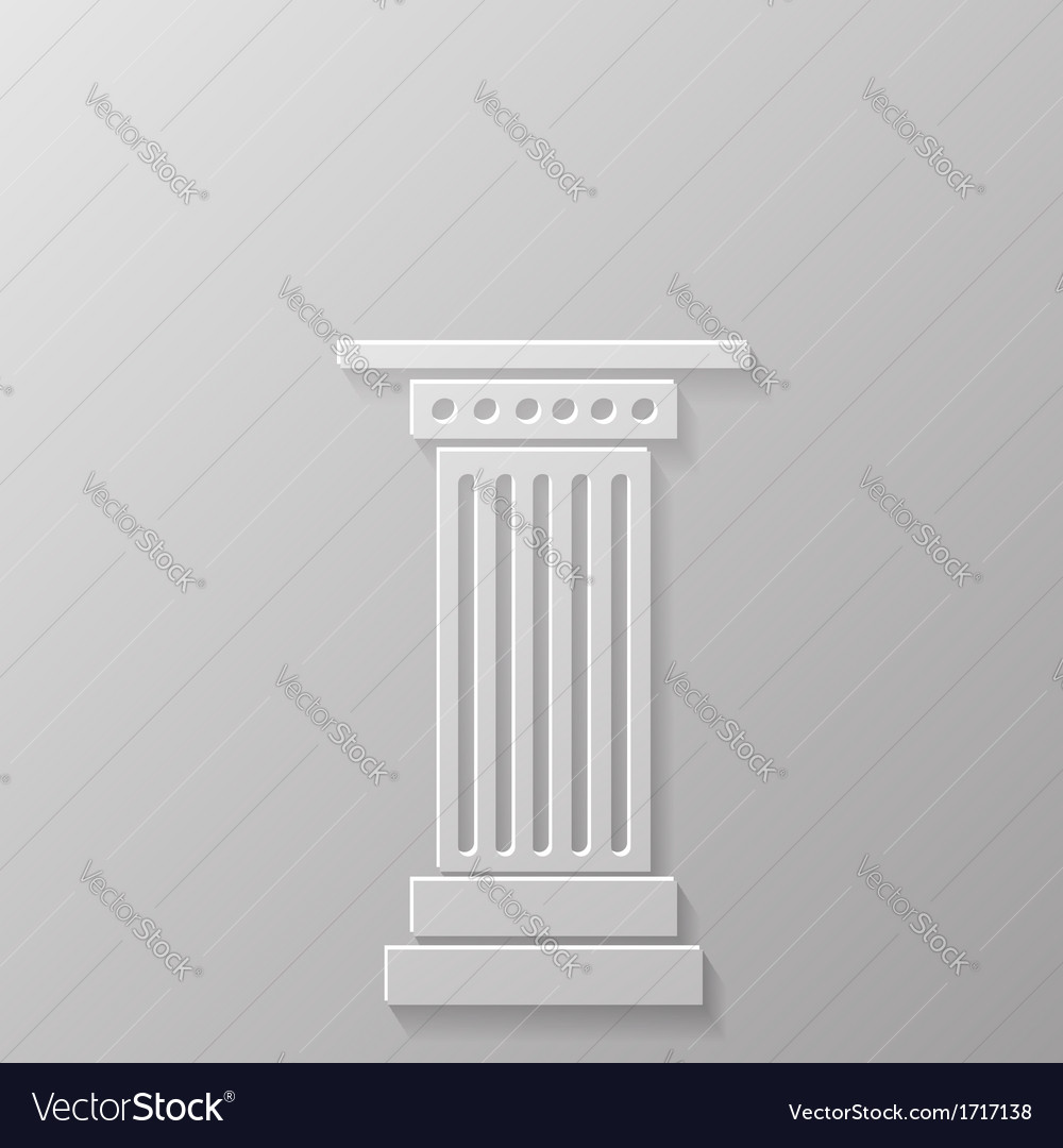 Column icoon vector | Price: 1 Credit (USD $1)