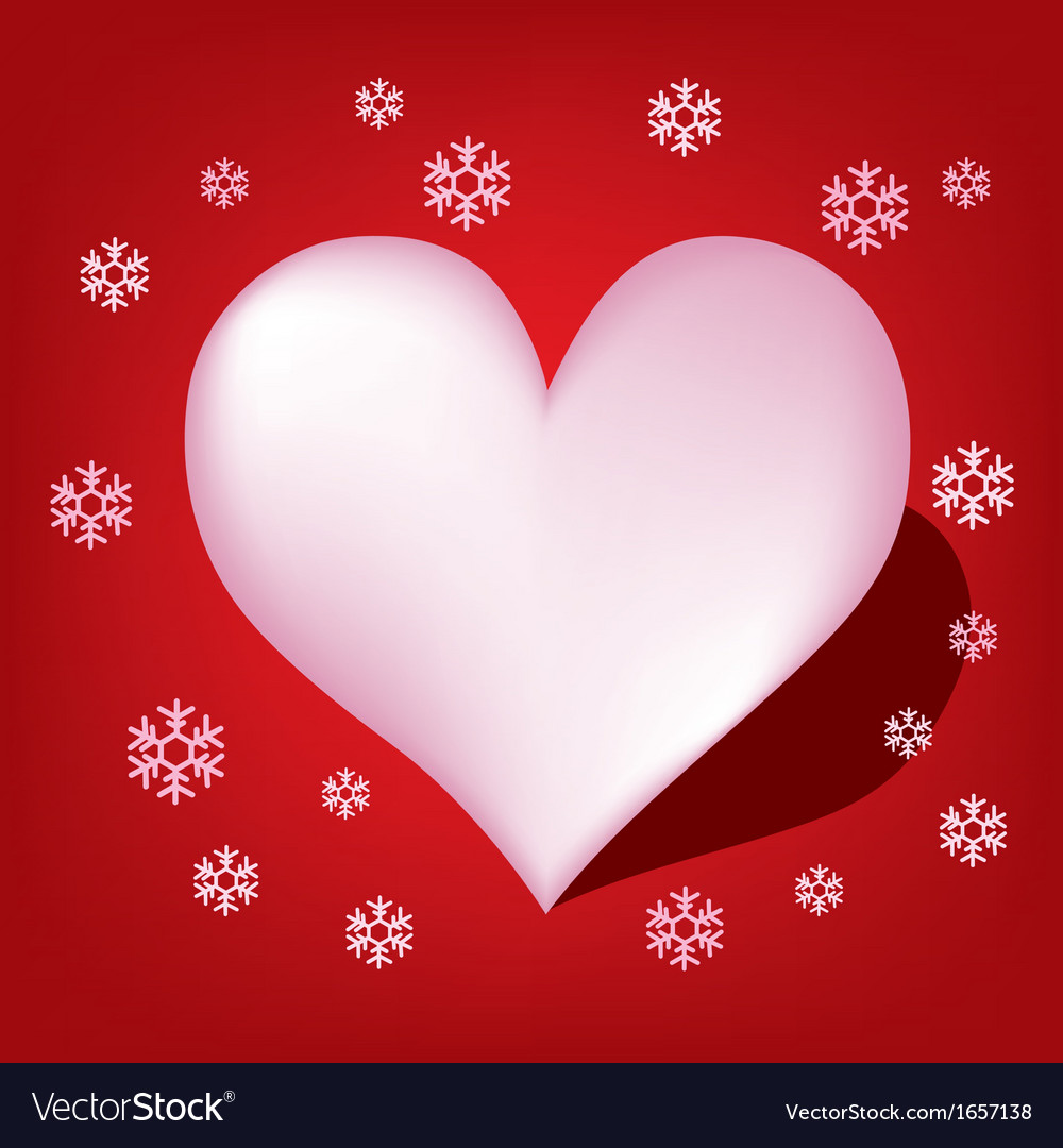 Heart with koch snowflake vector | Price: 1 Credit (USD $1)