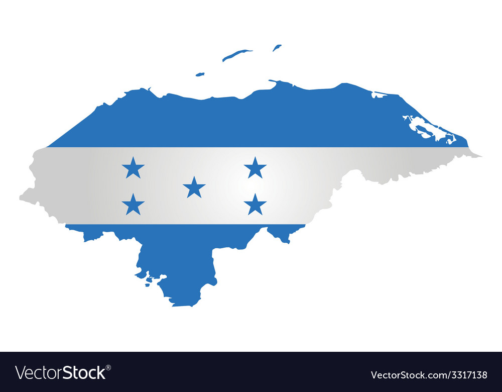 Honduras flag vector | Price: 1 Credit (USD $1)