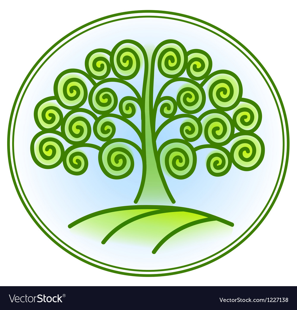 Nature and environment icon with tree vector   Price: 1 Credit (USD $1)