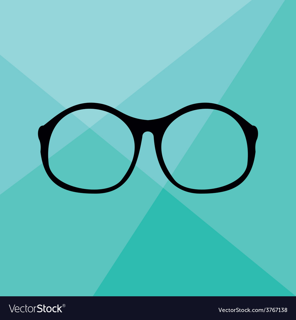 Nerd glasses on wrapping surface background vector | Price: 1 Credit (USD $1)