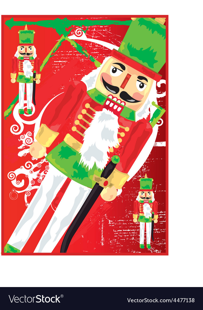 Nut cracker toy soldier vector | Price: 1 Credit (USD $1)
