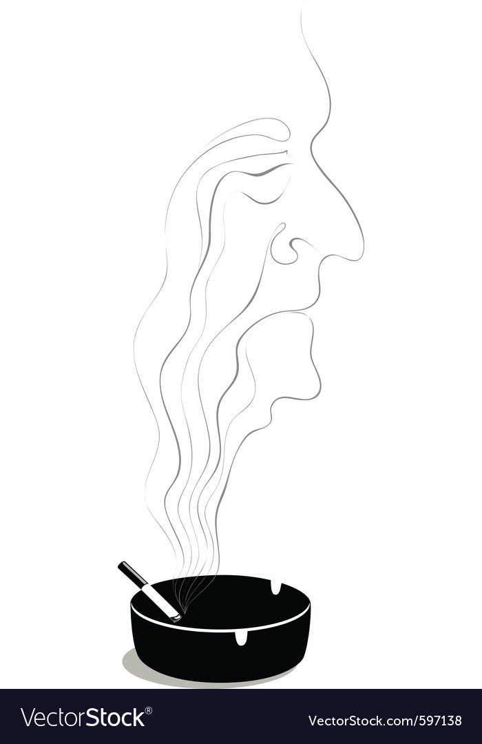 Old lonely smoker vector | Price: 1 Credit (USD $1)