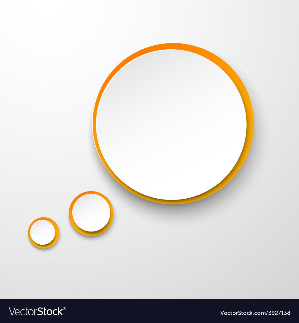 Paper white-orange round speech bubble vector | Price: 1 Credit (USD $1)