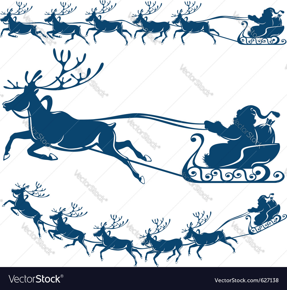 Reindeer and santa claus vector | Price: 1 Credit (USD $1)