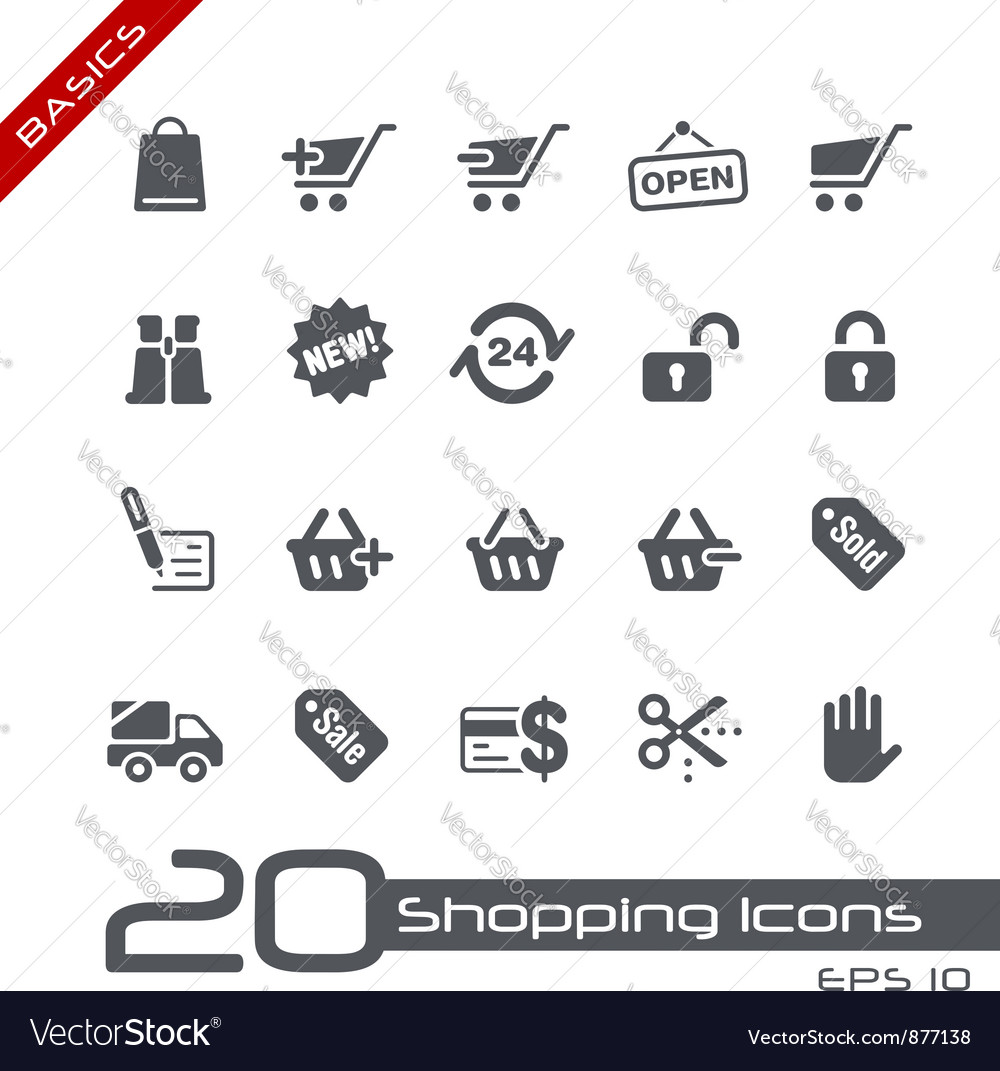 Shopping basics series vector | Price: 1 Credit (USD $1)