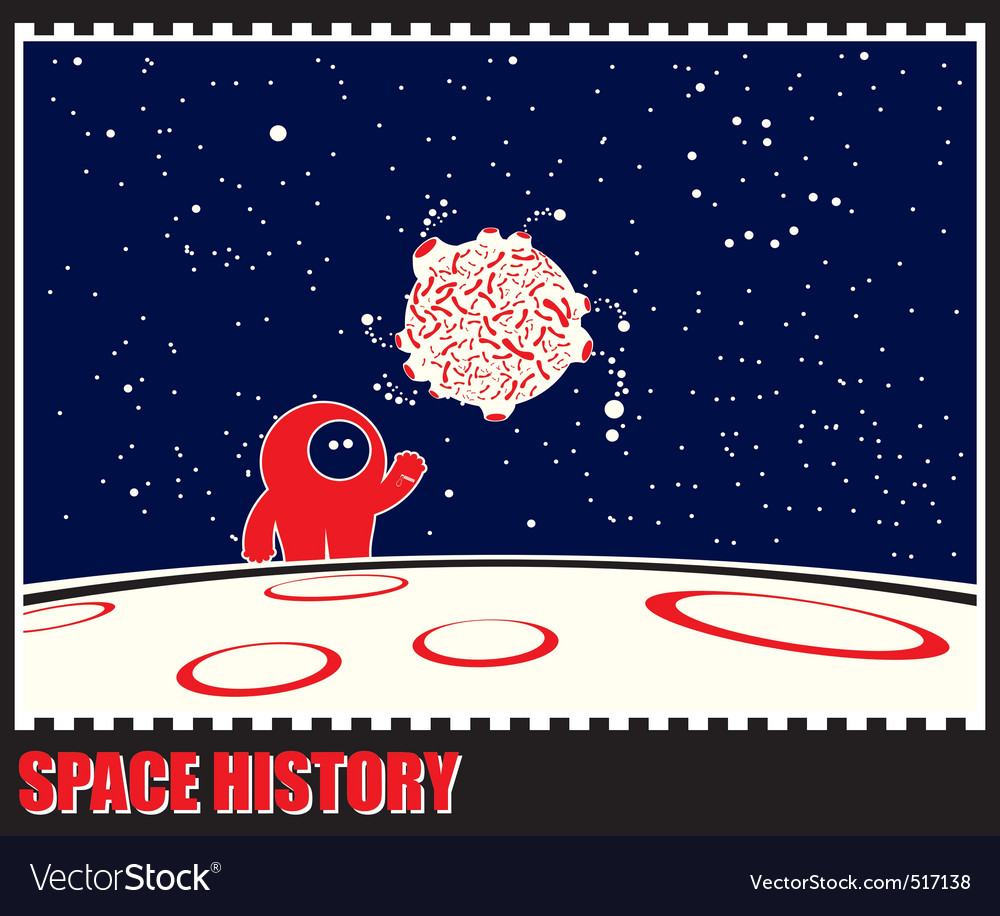 Space history vector | Price: 1 Credit (USD $1)