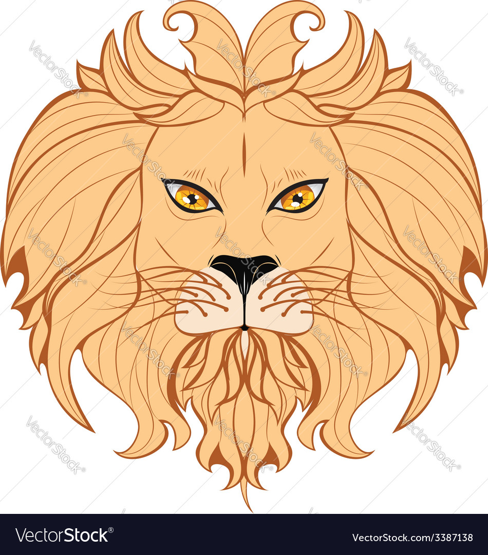 Stylized lion head4 vector | Price: 1 Credit (USD $1)