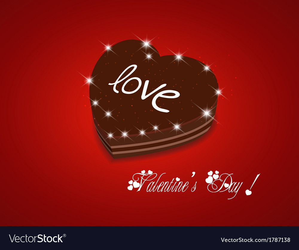 Valentine day be my sweet chocolate cake vector | Price: 1 Credit (USD $1)