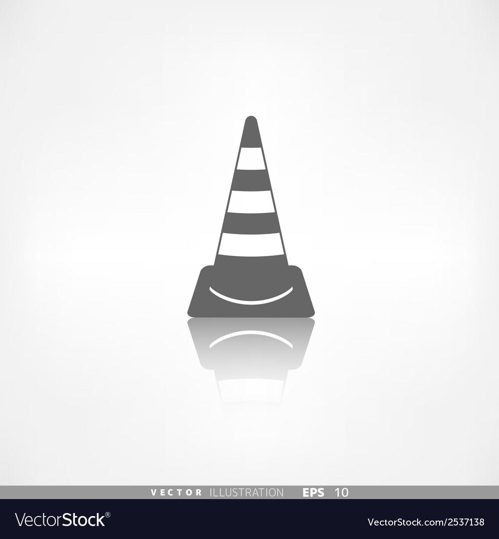 Warning road cones icon vector | Price: 1 Credit (USD $1)