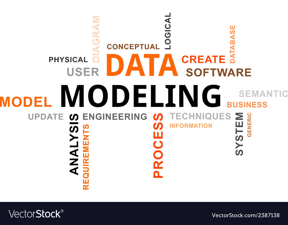 Word cloud data modeling vector | Price: 1 Credit (USD $1)